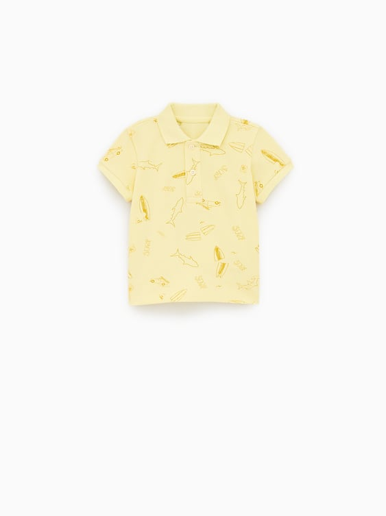 5120b627a37a Image 1 of PRINTED POLO SHIRT from Zara
