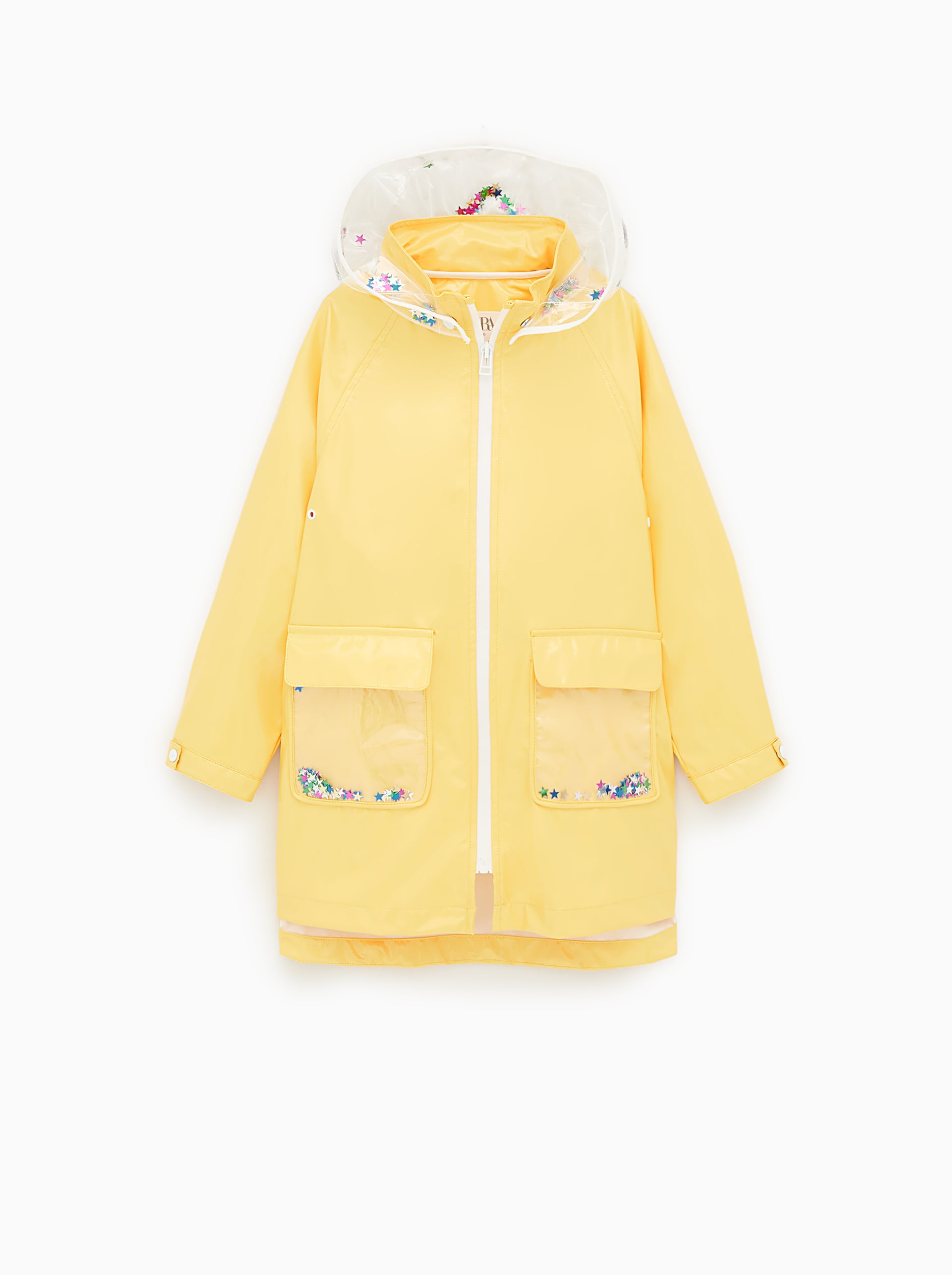 62e6146b TRANSPARENT RAINCOAT WITH SEQUINS - COATS AND JACKETS-GIRL | 5-14 ...