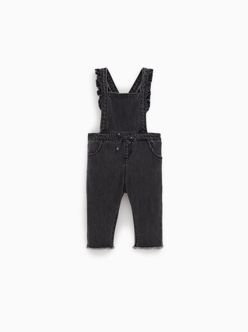 f50a1a8a0 ZARA. RUFFLED STRAP DENIM DUNGAREES JUMPSUITSDRESSES AND JUMPSUITS-BABY GIRL