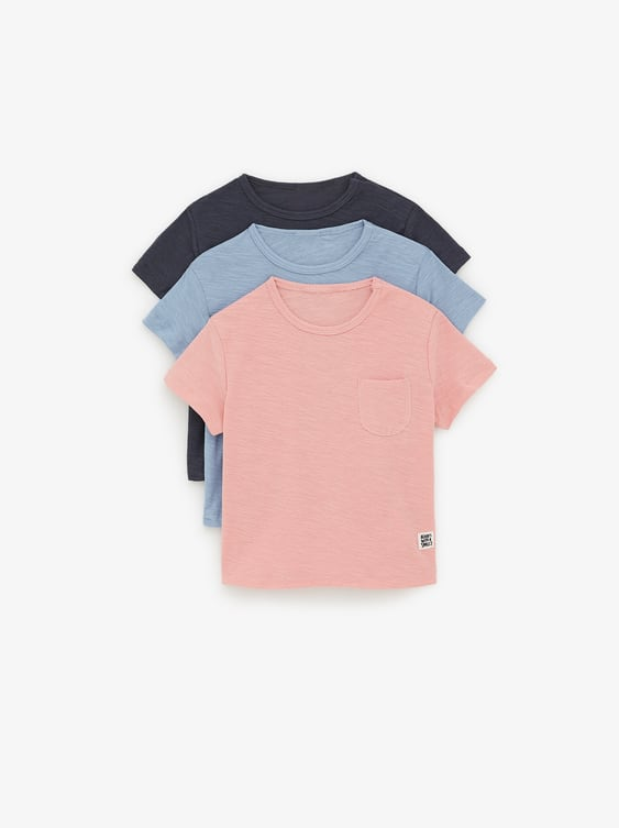 717cc6972b4545 3-PACK OF PLAIN T-SHIRTS - Available in more colours