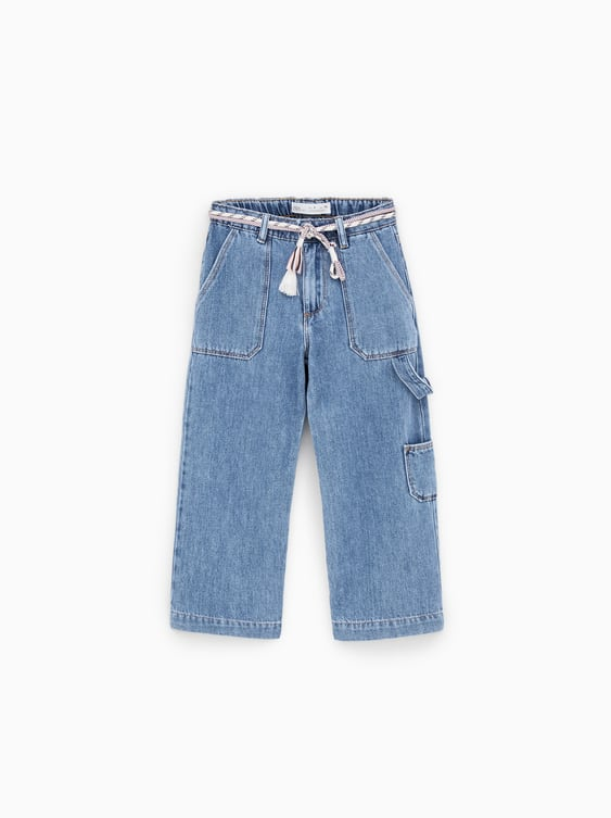 f1dd6276a03 BELTED CARGO JEANS