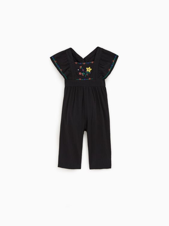 3d8bd902 EMBROIDERED JUMPSUIT - Jumpsuits-DRESSES AND JUMPSUITS-BABY GIRL | 3 ...