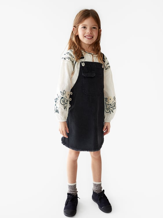 latest trends run shoes newest collection BUTTON-UP DENIM DUNGAREES