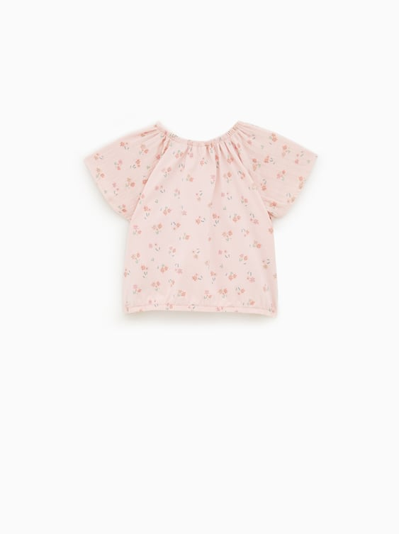 16752f4ce FLORAL CREPE T - SHIRT-T-SHIRTS-BABY GIRL