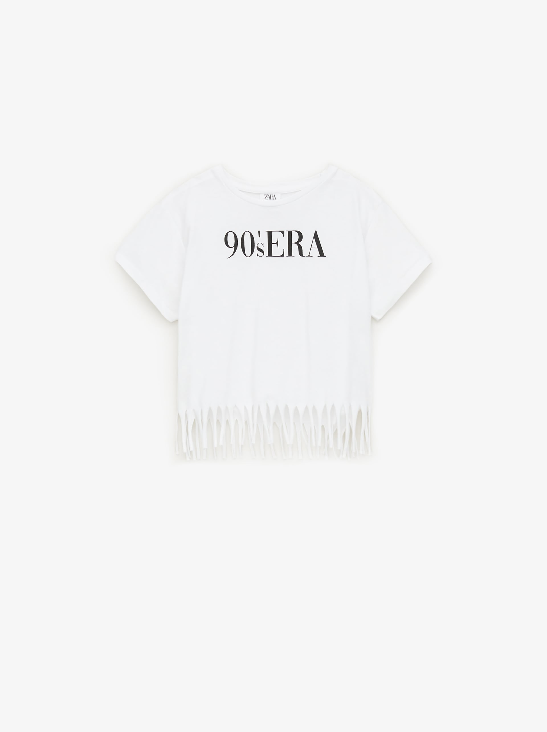 5537fca70 FRINGED SHIRT WITH TEXT - Text.-T-SHIRTS-GIRL | 5 - 14 yrs-KIDS ...