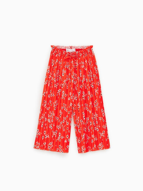 Loose Fitting Pleated Trousers View All Leggings And Trousers Girl by Zara
