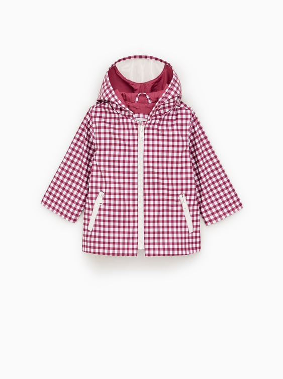 RUBBERISED CHECK RAINCOAT - COATS AND JACKETS-BABY GIRL  30450d781776