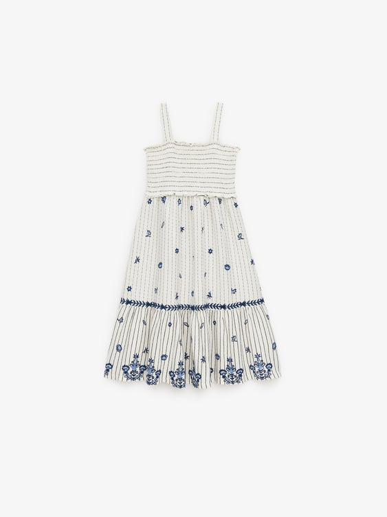 Embroidered Dress View All Dresses And Jumpsuits Girl by Zara