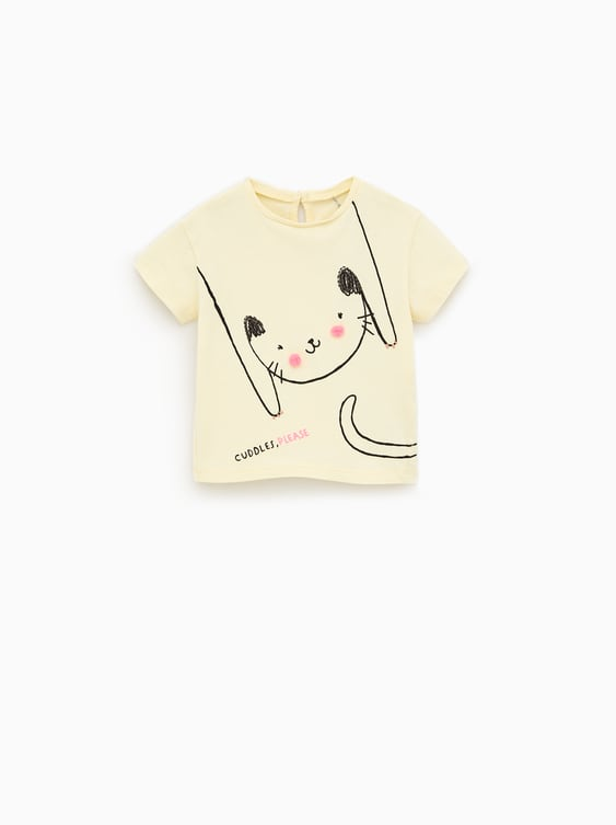 c7621e7f CAT POMPOM TOP - View All-T-SHIRTS-BABY GIRL | 3 months - 5 years ...