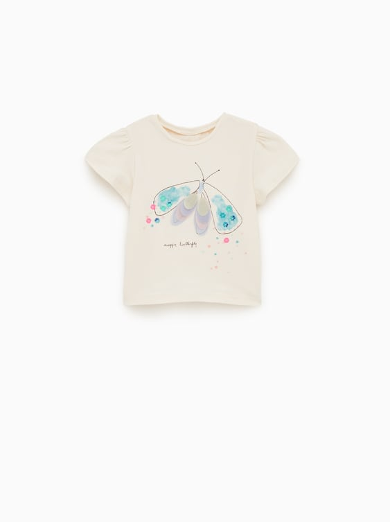 10e4c9b2fbf2 BUTTERFLY T - SHIRT-Appliqués and sequins-T-SHIRTS-BABY GIRL