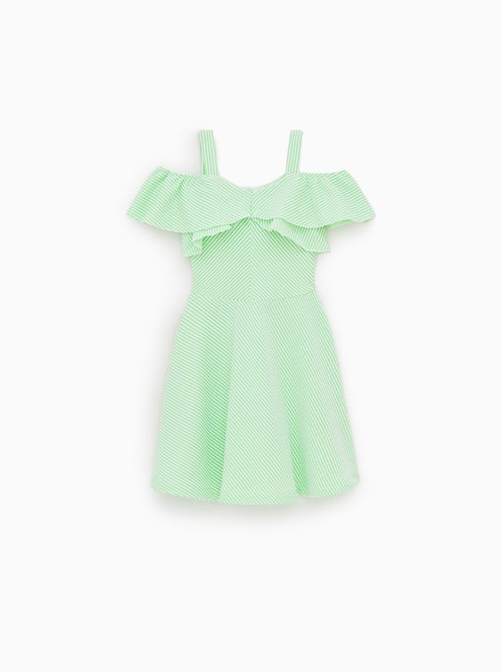 449d4a7af RUFFLED STRIPED DRESS - View All-DRESSES AND JUMPSUITS-GIRL