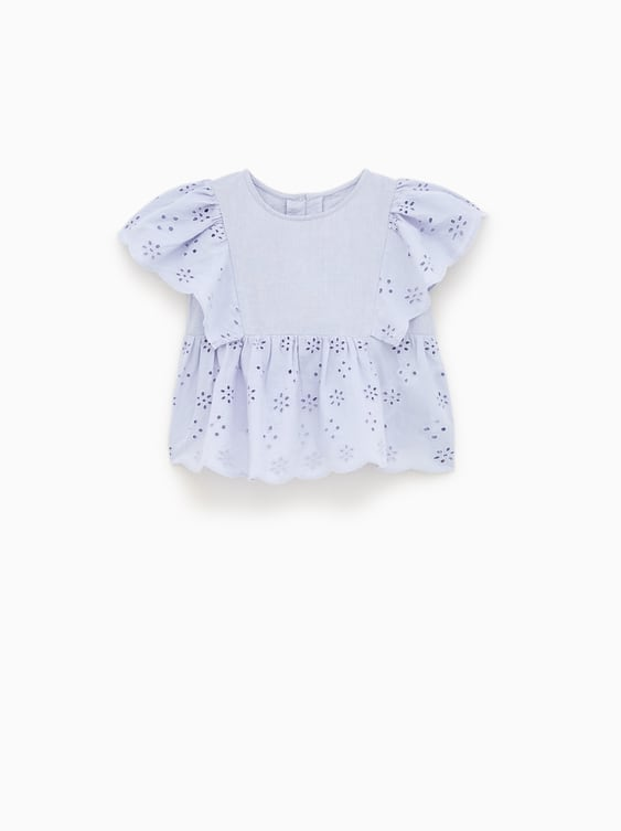 Image 1 of BLOUSE WITH SWISS EMBROIDERY from Zara a28936ec76594