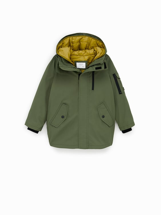 Clearance sale half off best collection NYLON PARKA WITH DETACHABLE JACKET