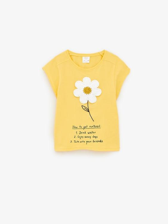 48dc7b80 DAISY T - SHIRT WITH APPLIQUÉ-Printed-T-SHIRTS-GIRL | 5-14 yrs-KIDS ...