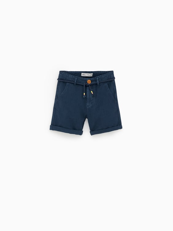 0c7e6a3361e9 TEXTURED BERMUDA SHORTS WITH DRAWSTRINGS - Available in more colours