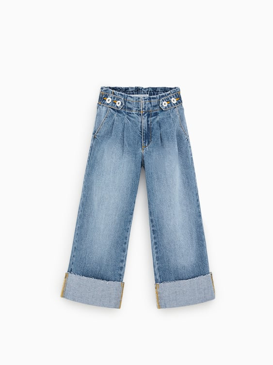 d2fcd566f4f8 PAPERBAG JEANS WITH TURN-UP HEMS