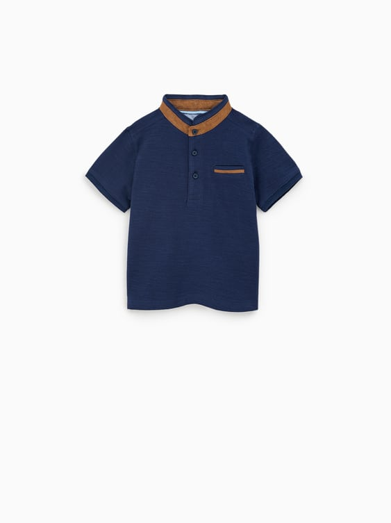 cd65e14af POLO SHIRT WITH CONTRAST FAUX SUEDE TRIMS - RAMADAN KAREEM-BABY BOY ...