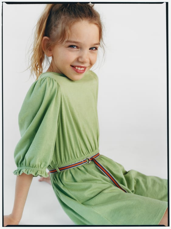 3362d20caedc9 BELTED RIBBED DRESS - Dresses-DRESSES & JUMPSUITS-GIRL | 5 - 14 ...