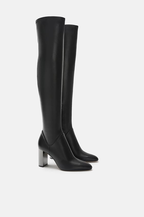 Tall Elastic Boots  Boots Shoes Woman by Zara
