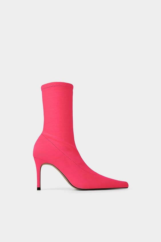e53617c2a640f8 FLUORESCENT SOCK STYLE HEELED ANKLE BOOTS