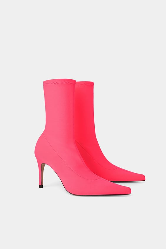 1d3c808fc868 FLUORESCENT SOCK STYLE HEELED ANKLE BOOTS - View all-WOMAN-SHOES ...