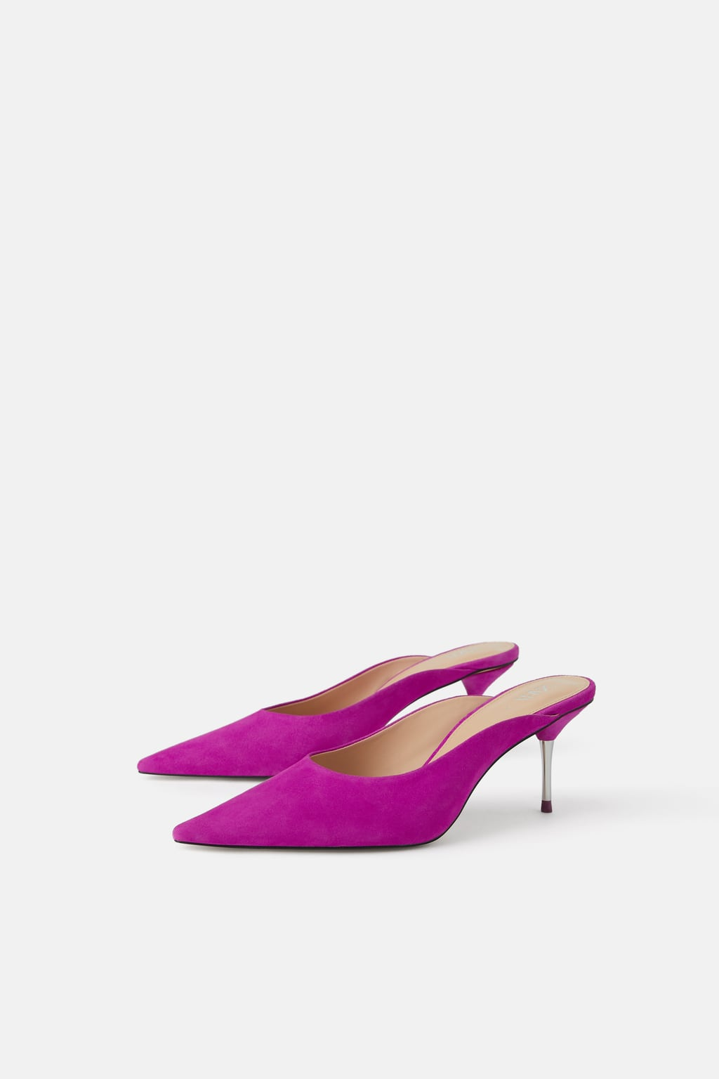 Image 1 of HEELED LEATHER MULES from Zara
