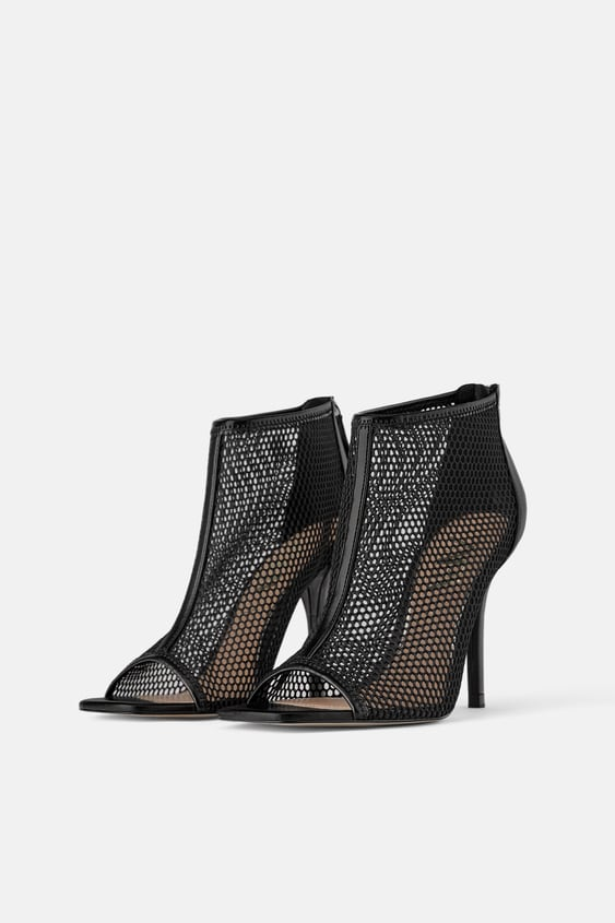 7bb70f641a1 WRAPAROUND MESH HIGH HEEL SANDALS - Heeled Sandals-SHOES-WOMAN ...