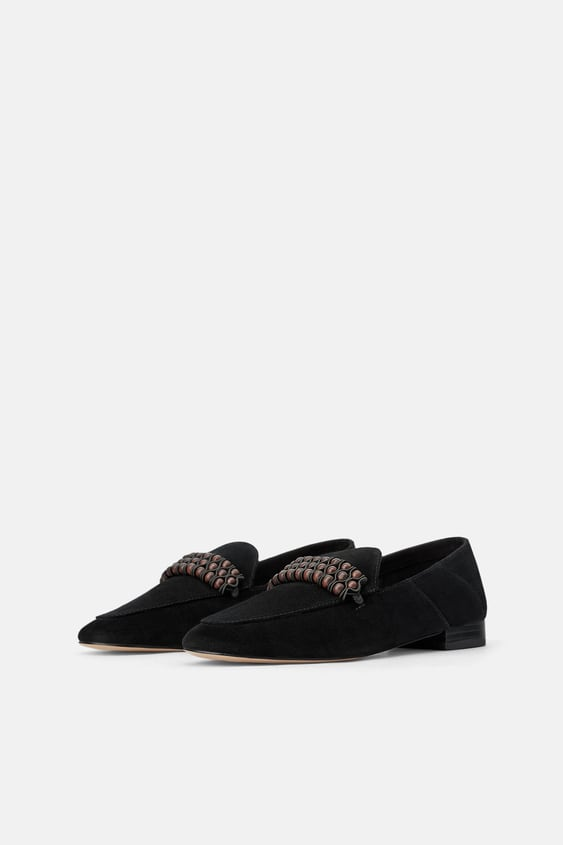 293255c0fd4 LEATHER LOAFERS WITH DETAIL - Leather-SHOES-WOMAN-SALE | ZARA United ...