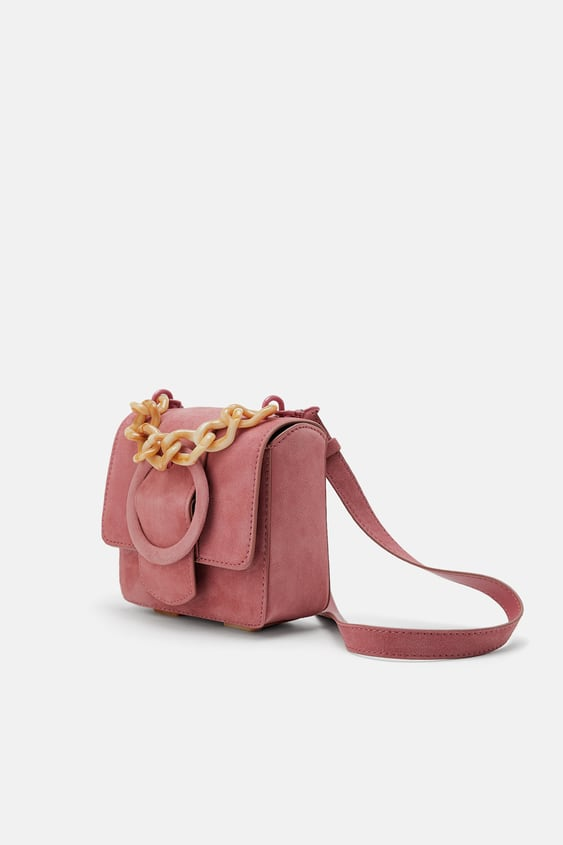 4eec5558d Image 1 of MINI LEATHER CROSSBODY BAG WITH TORTOISESHELL STRAP from Zara