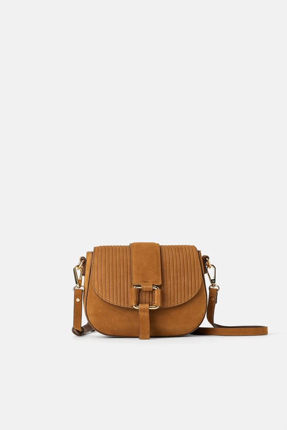 23990a796 SPLIT SUEDE AND CORDUROY MINI CROSSBODY BAG