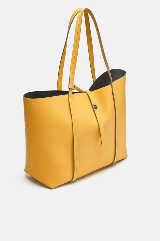 e5be58e4701 YELLOW TOTE BAG - BAGS-WOMAN-SALE | ZARA United Kingdom