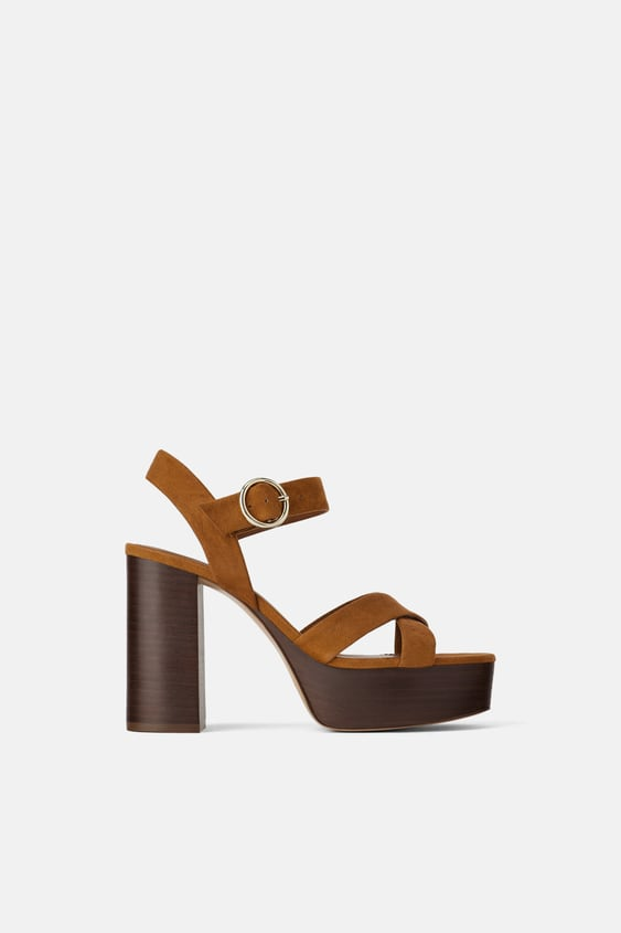 6a5b60b5bff WOOD PLATFORM HEELED SANDALS - STARTING FROM 70% OFF-SALE-WOMAN ...