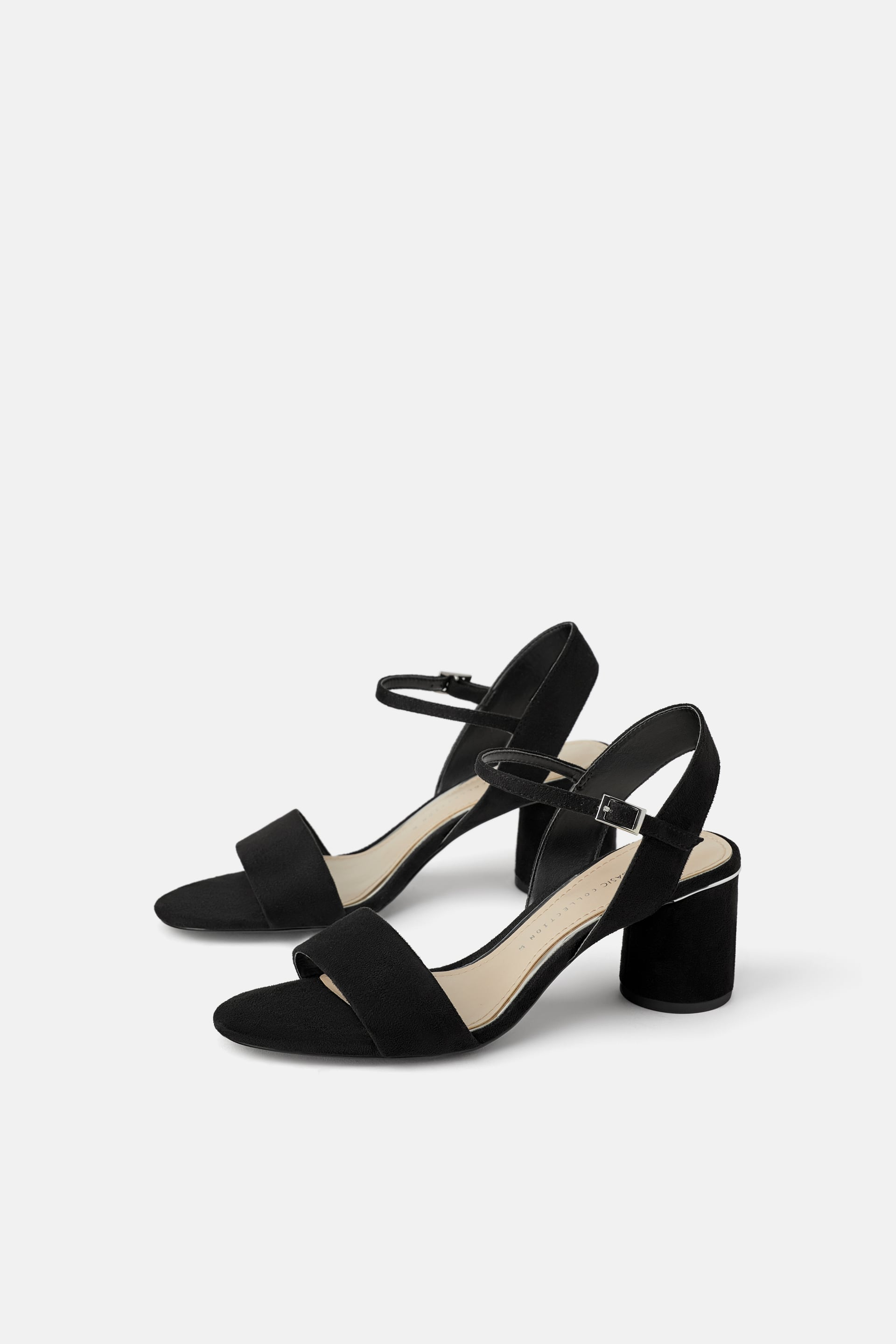 Round Wide Heeled Sandals View All Shoes Woman by Zara