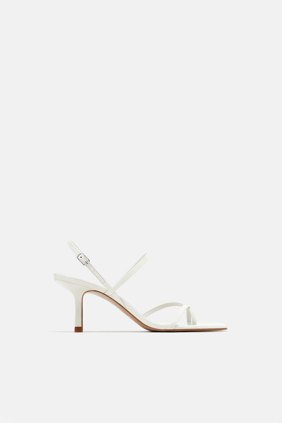 White strappy sandles