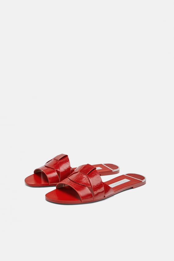 ae8c9069927b ANIMAL PRINT LEATHER FLAT SANDALS - Summer Shoes-SHOES-WOMAN | ZARA ...