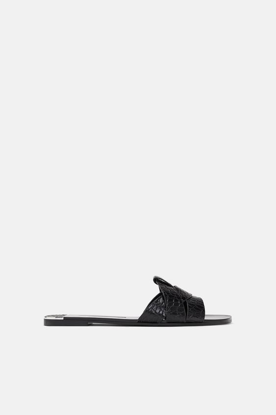 FLAT LEATHER SANDAL - Item available in more colors
