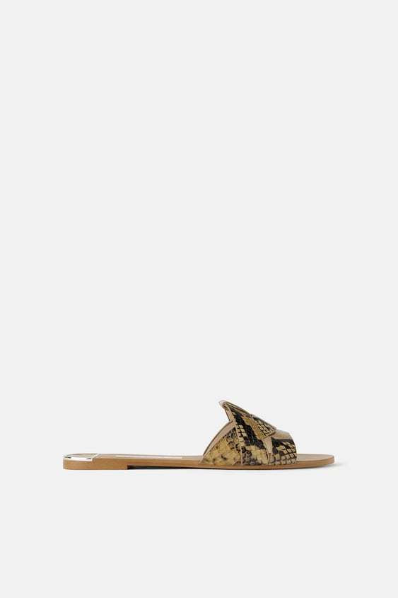 FLAT LEATHER SANDAL - Item available in more colors d361b8e742