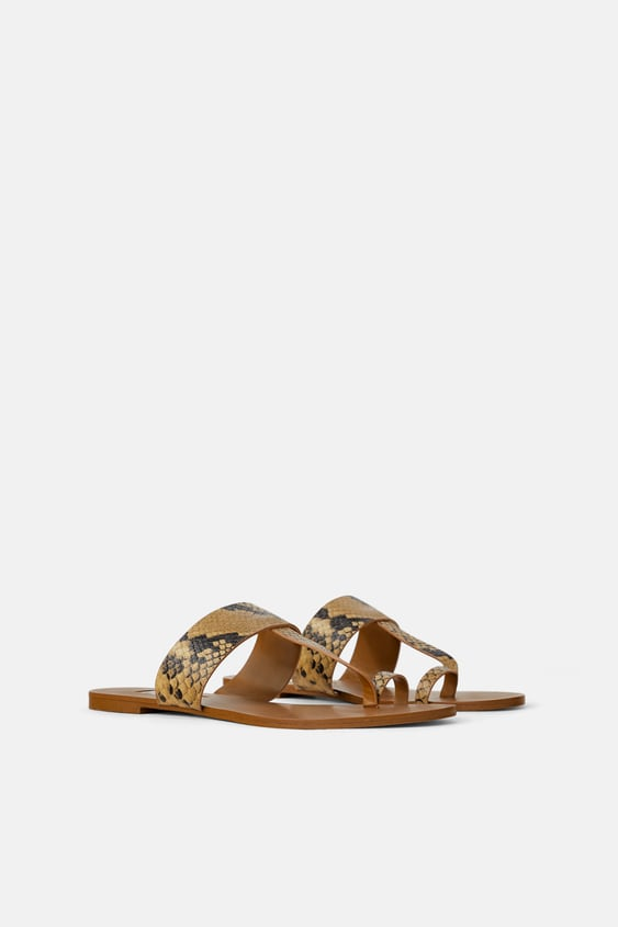 d4864be22788 ANIMAL PRINT FLAT SANDALS - New in-SHOES-WOMAN