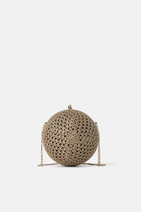 23a27efbd765 CROCHETED ROUND CROSSBODY BOX BAG