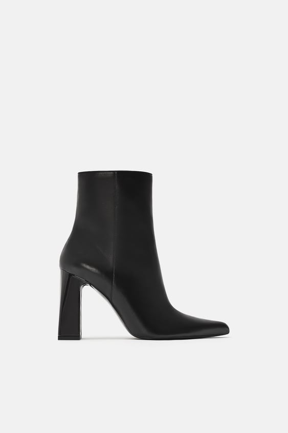 Wide Heel Ankle Boot  Shoes by Zara