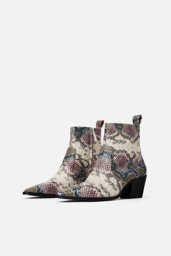 Image 1 of ANIMAL PRINT COWBOY ANKLE BOOTS from Zara 8808aac373