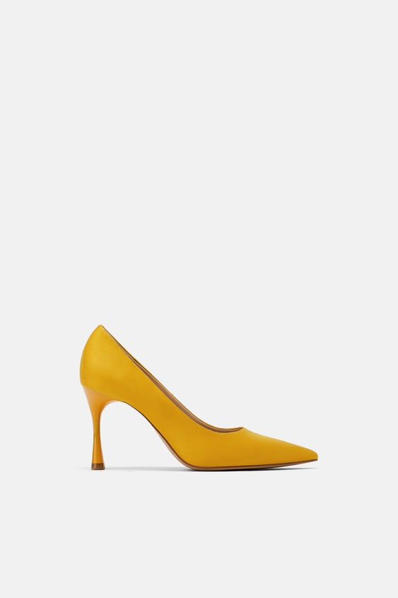 4925399dd9c Shoes Trf New Collection Online Zara United Kingdom. Product Images Gallery Zara  Velvet Low Heel Court Shoes