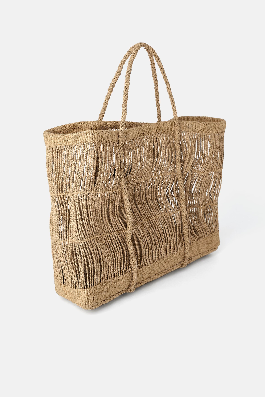 Image 1 of JUTE MAXI TOTE BAG from Zara
