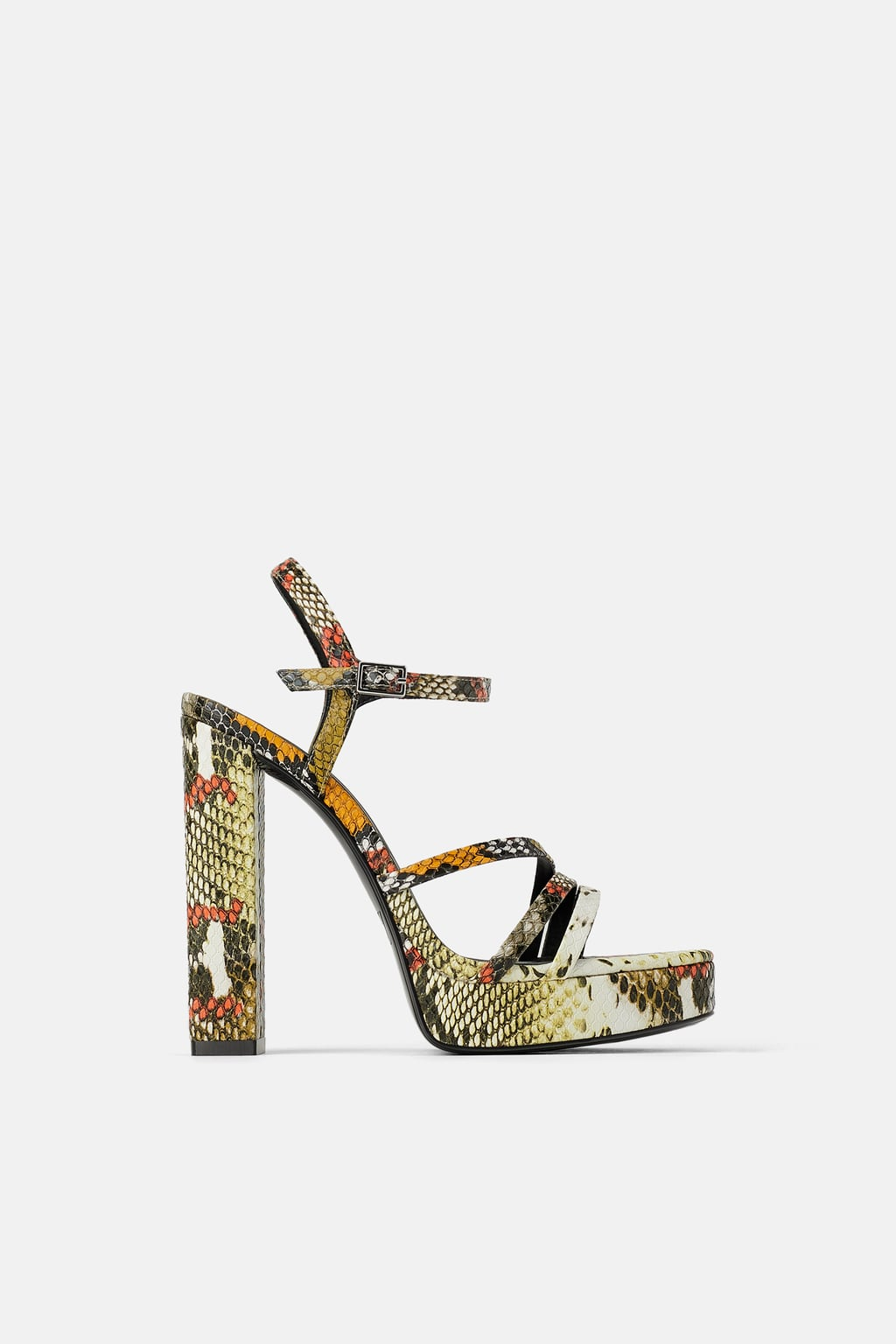 Image 1 of ANIMAL PRINT HIGH-HEEL SANDALS from Zara