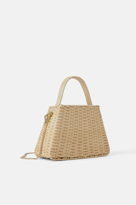 NATURAL CITY BAG WITH CHAIN
