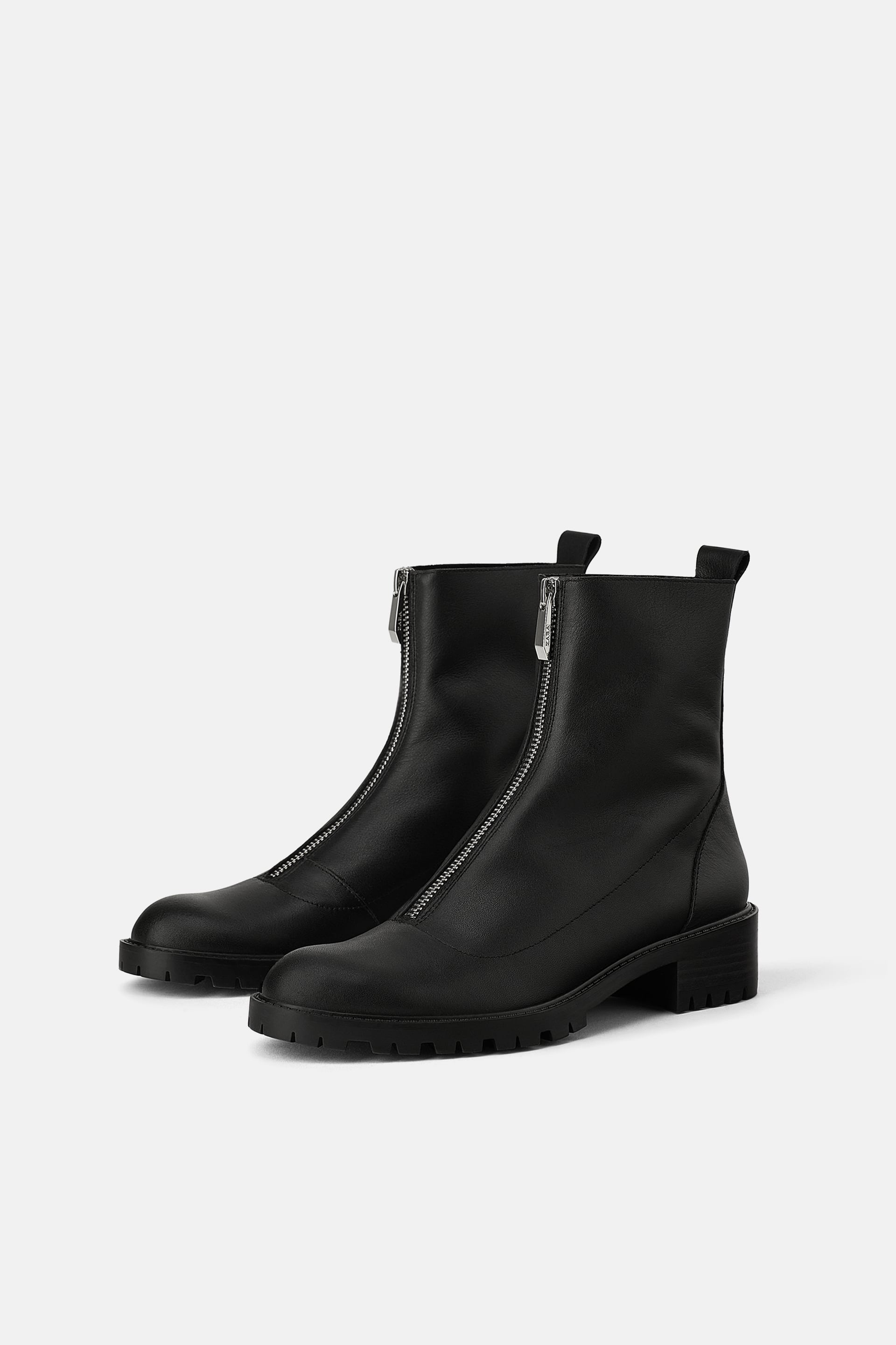 e1d51281 LEATHER ANKLE BOOTS WITH TRACK SOLE - PERSONAL BEST-STORIES-WOMAN ...