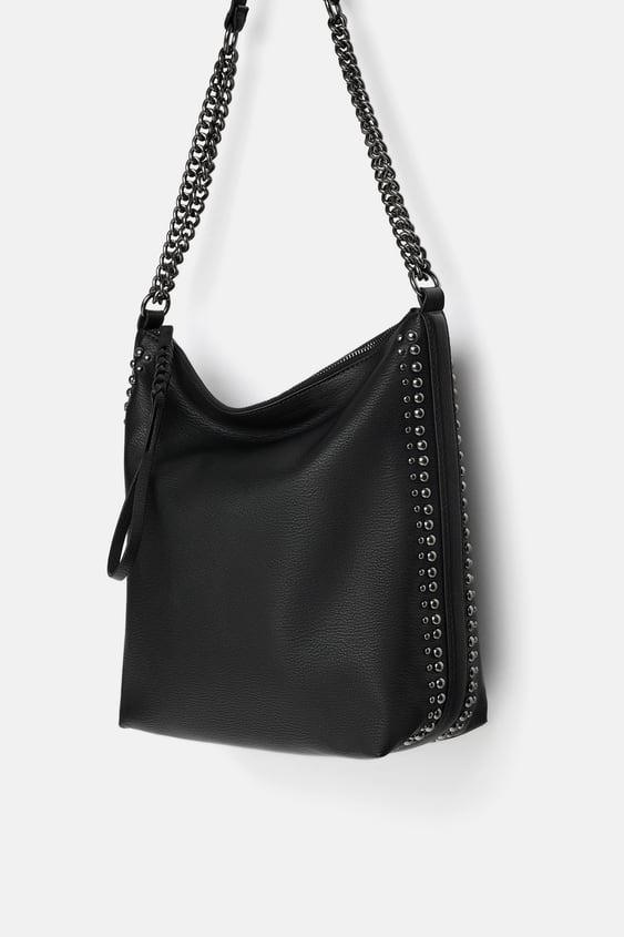 b17718b7979 BUCKET BAG WITH CHAIN DETAIL - Special Prices-BAGS-WOMAN