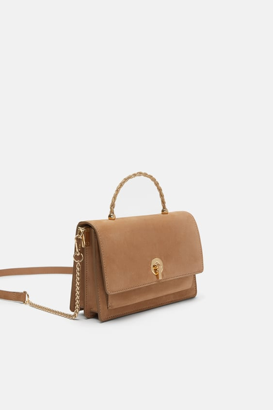 48b37041f589 LEATHER CROSSBODY BAG WITH HANDLE - View all-BAGS-WOMAN-SALE | ZARA ...