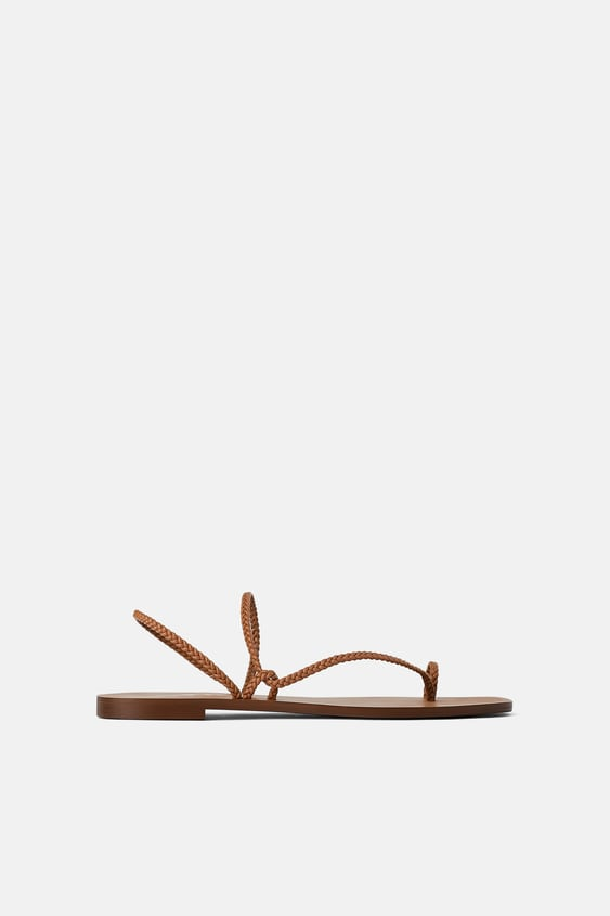 939552a507e FLAT SANDALS WITH BRAIDED STRAPS - MUM-WOMAN-CORNER SHOPS