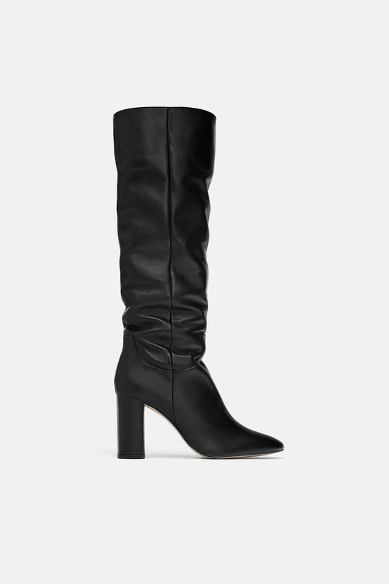 d82a926e079 HIGH-HEEL LEATHER BOOTS